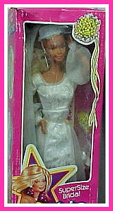 Mattel S Super Size Barbie 19 Vinyl Fashion Doll Brid