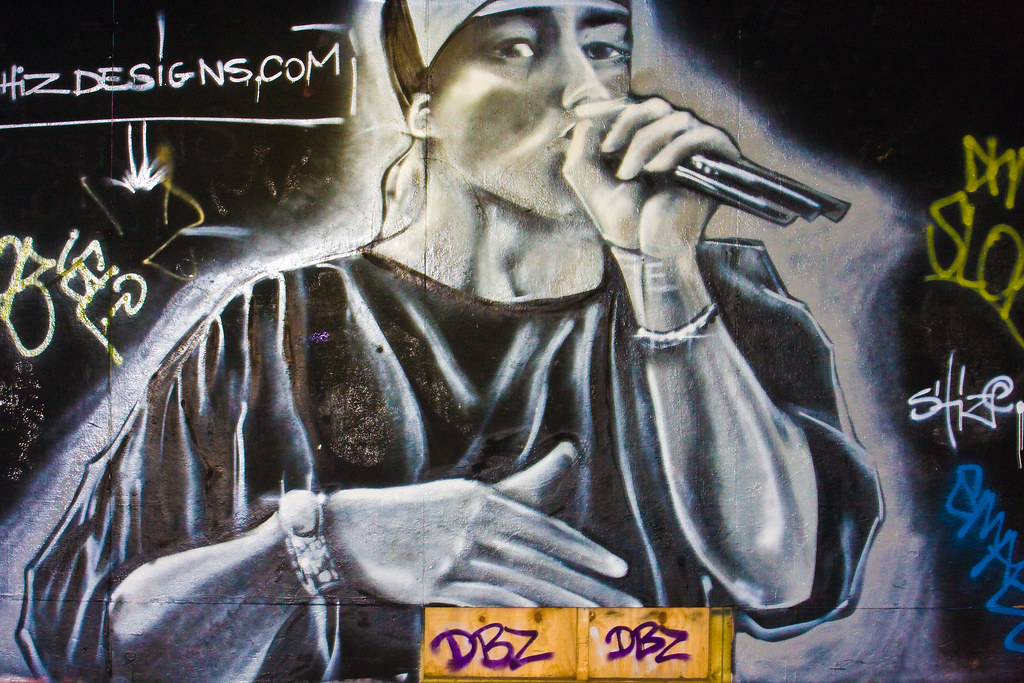 Graffitis rappers for Baby boy tupac mural
