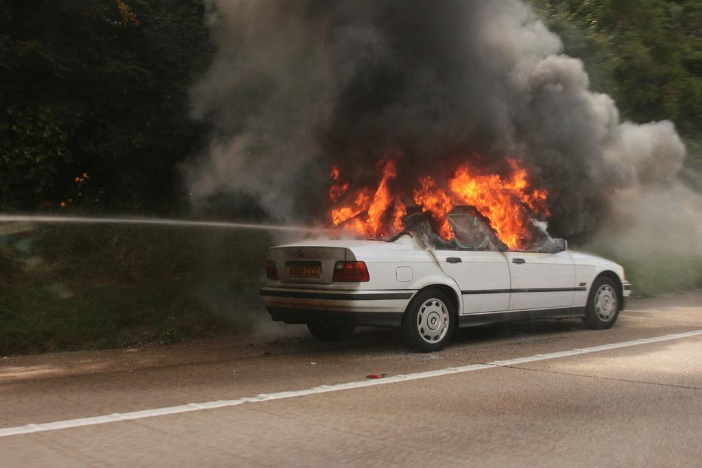 Car Accident Burn Victim