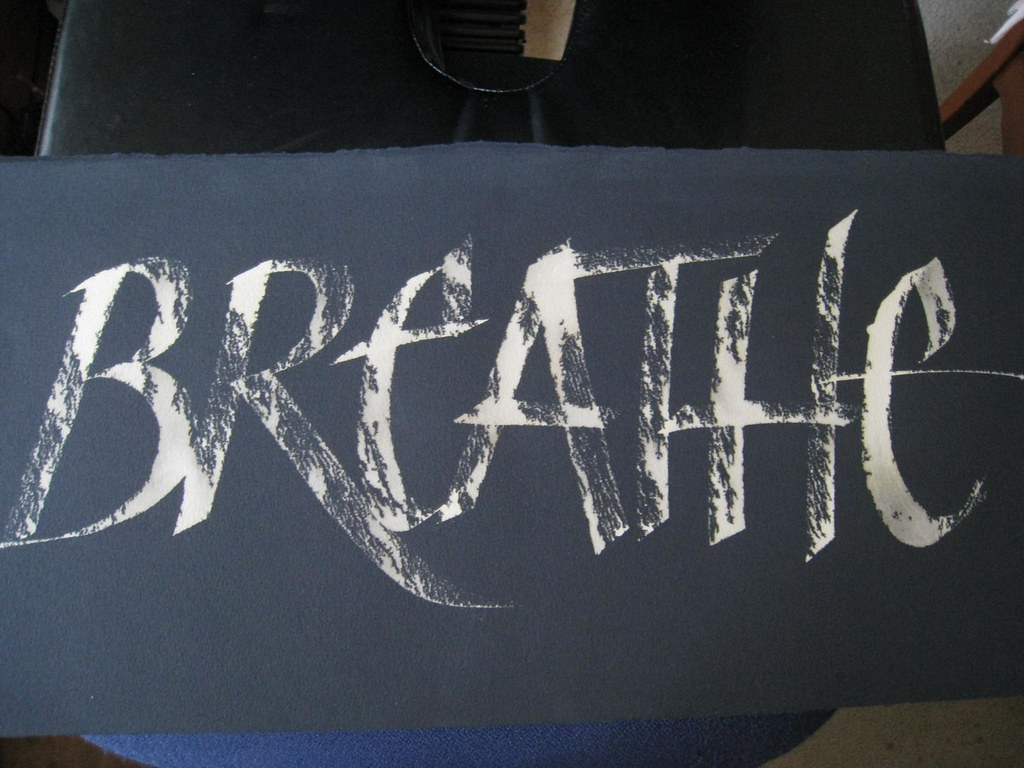 How to write on black paper