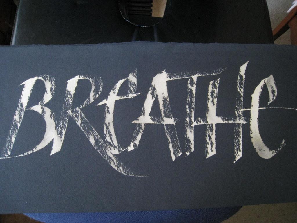 Writing on black paper