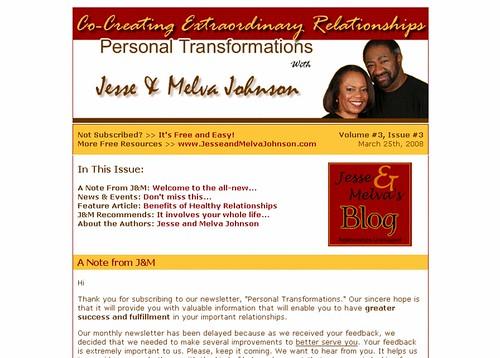Jesse and melva johnson ezine template web success a po