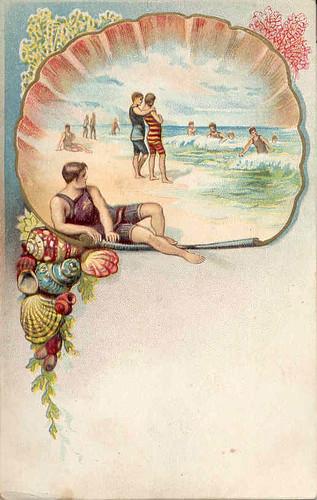 Vintage beach themed postcard   Flickr - Photo Sharing!
