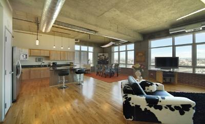 Flour Mill Lofts Denver flour mill lofts - 701 - living area & kitchen   loftspy   flickr