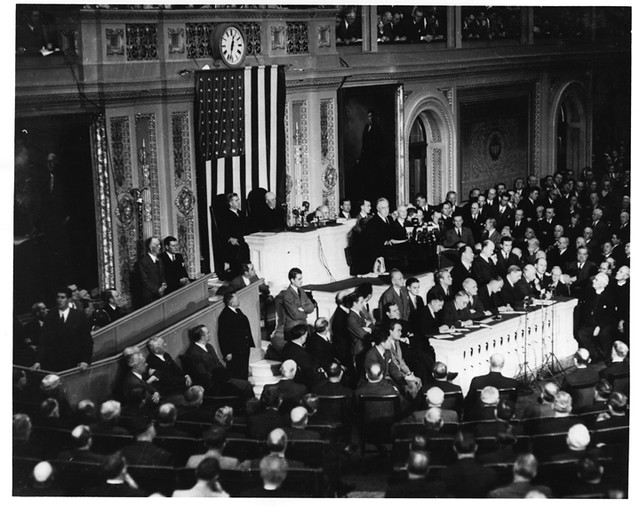 the day of infamy speach Today is the 75th anniversary of the surprise attack on pearl harbor on december 8, president franklin d roosevelt stood before a joint session of the.