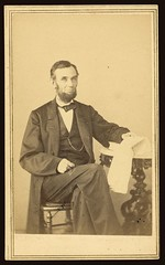 [Abraham Lincoln, U.S. President. Seated portrait, holding glasses and newspaper, Aug. 9, 1863] (LOC) | by The Library of Congress