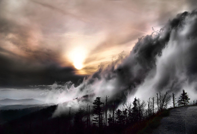 Smoky Mountain Fog | Sunset at Clingman's Dome in the ...
