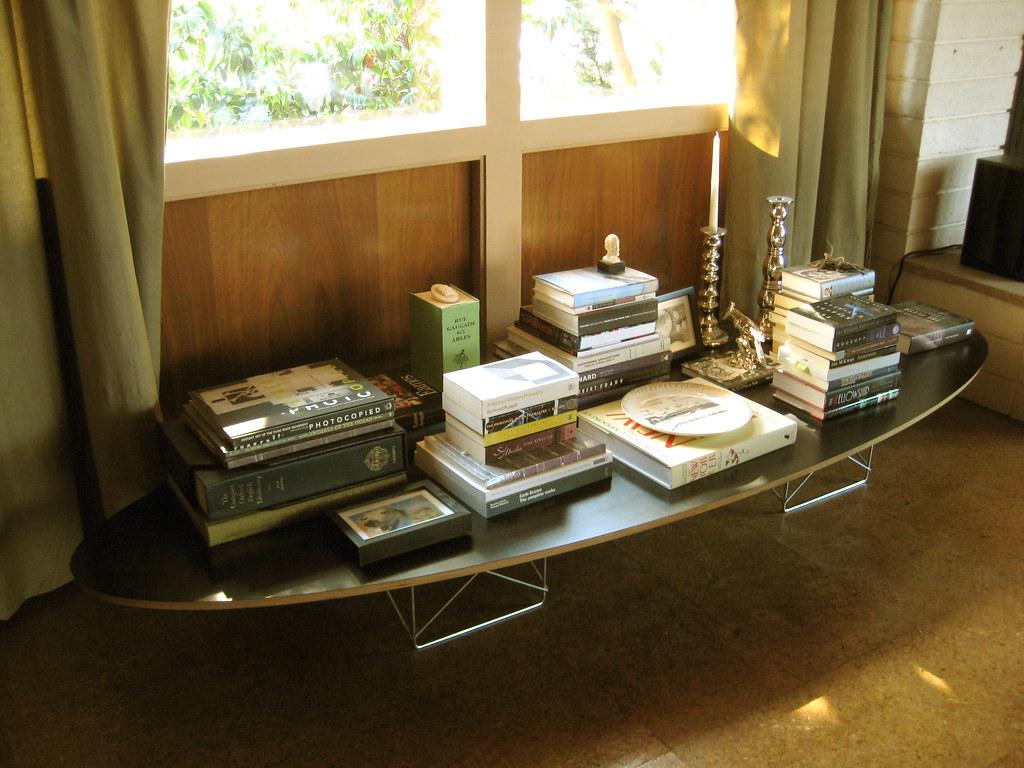 eames elliptical table arrangement  next to the front door…  flickr -