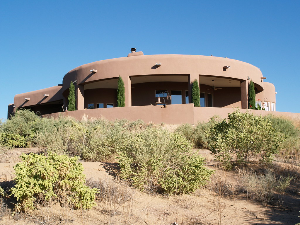 New mexico adobe house our next door neighbours house for Luxury adobe style house plans