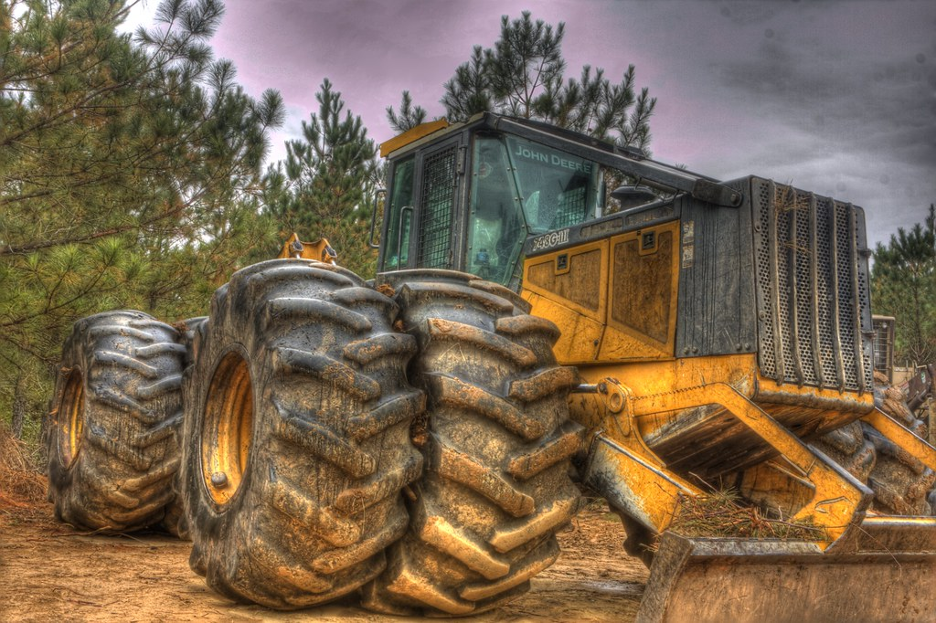 Skidder | A Skidder is used in logging operations to drag ...