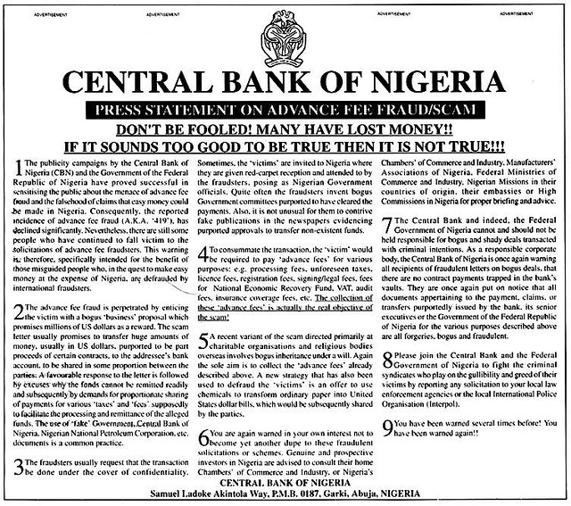 nigerian fraud photo courtesy www usps com websites depart flickr