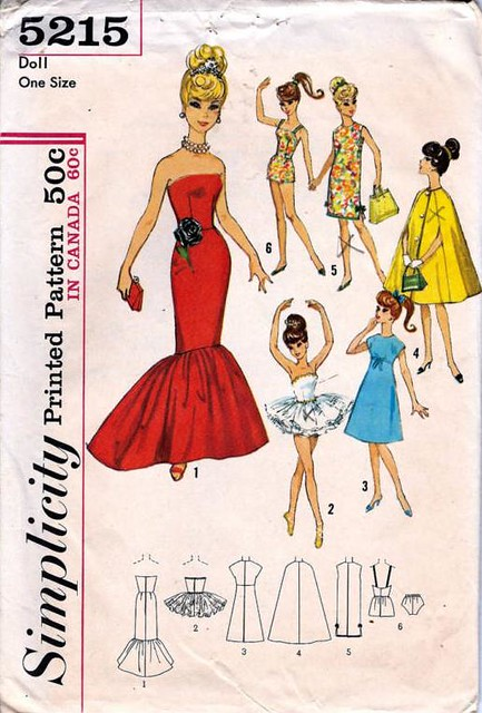 Simplicity 5215 Barbie Doll Sewing Pattern Www