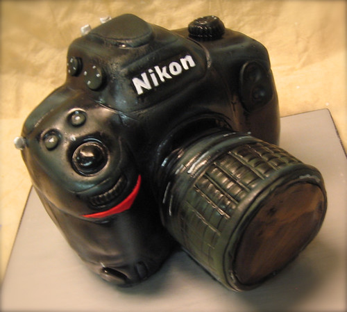 nikon camera cake Camera cake, fondant For a newlywed ...