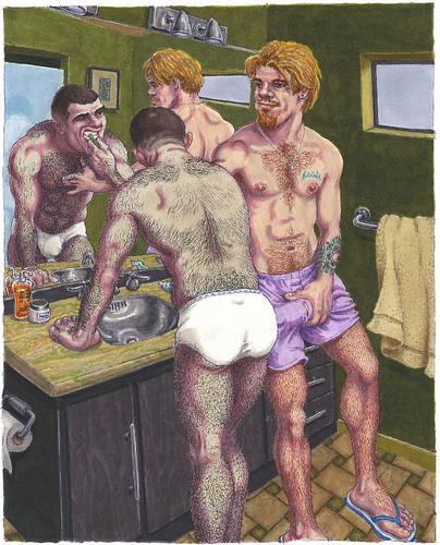 Erotic gay drawings galleries hugely hung 8