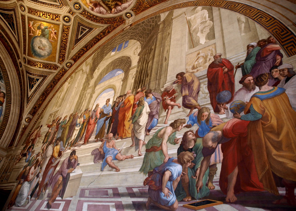 school of athens painted by raphael
