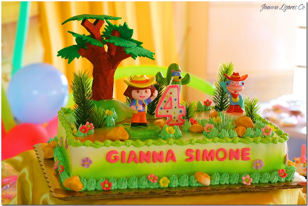 Dora Cake Recipe In English: Birthday Cake - Dora The Explorer