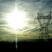 Electrical Transmission Tower and Sun