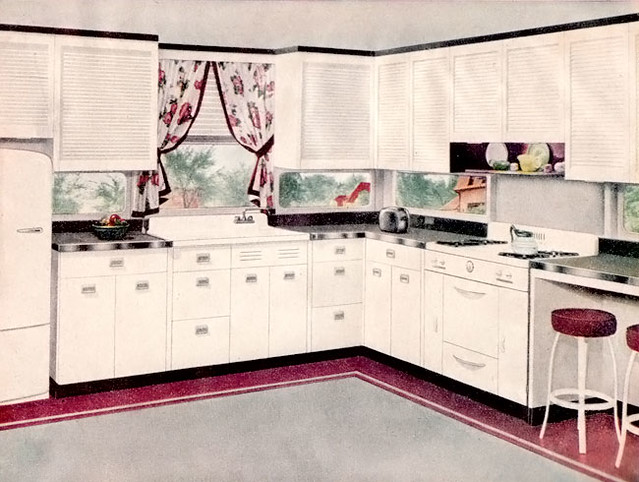 1947 Pink Amp Gray Kitchen 1947 American Home Mag Ad For