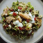 Smoked trout & bulgar wheat salad