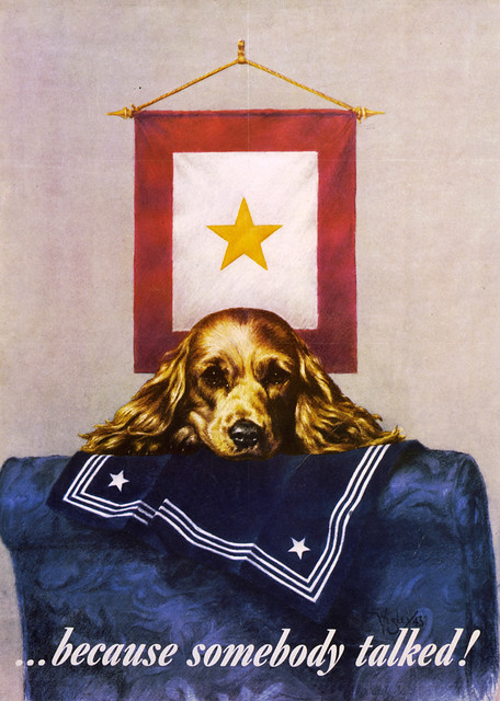 sad puppy propaganda poster  1944