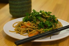 Noodles with Spicy Peanut Sauce | by tinctoris