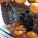 caramel-peanut-topped brownie cake