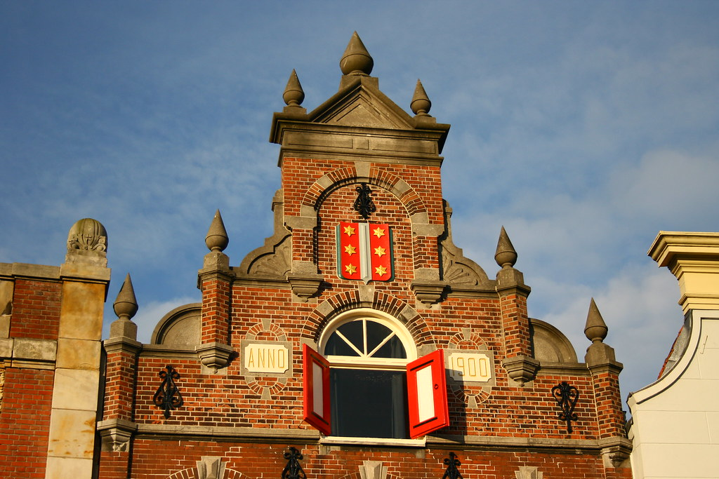 Arquitectura Holandesa Detalle De Una Fachada En Gouda