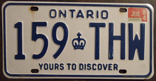 how to get license plates ontario