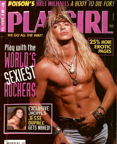 Bret's Playgirl's Cover | Bret Michaels on the cover of Play ... Damn