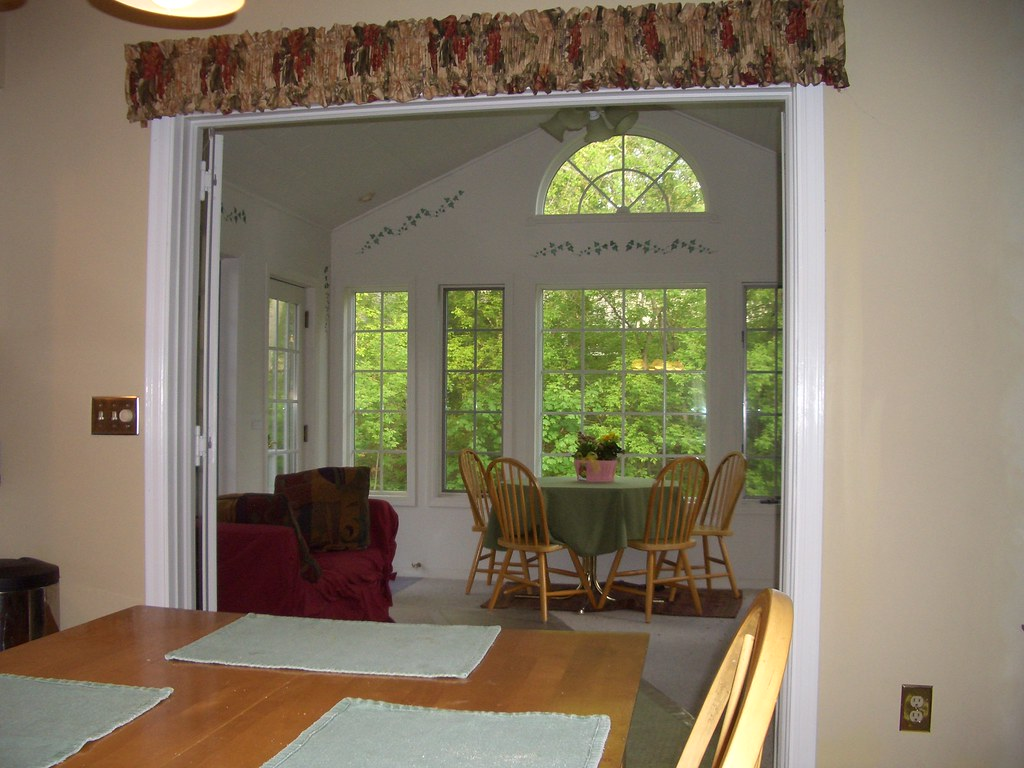 Interior french doors to 4 season porch replaced an old for Interior french patio doors