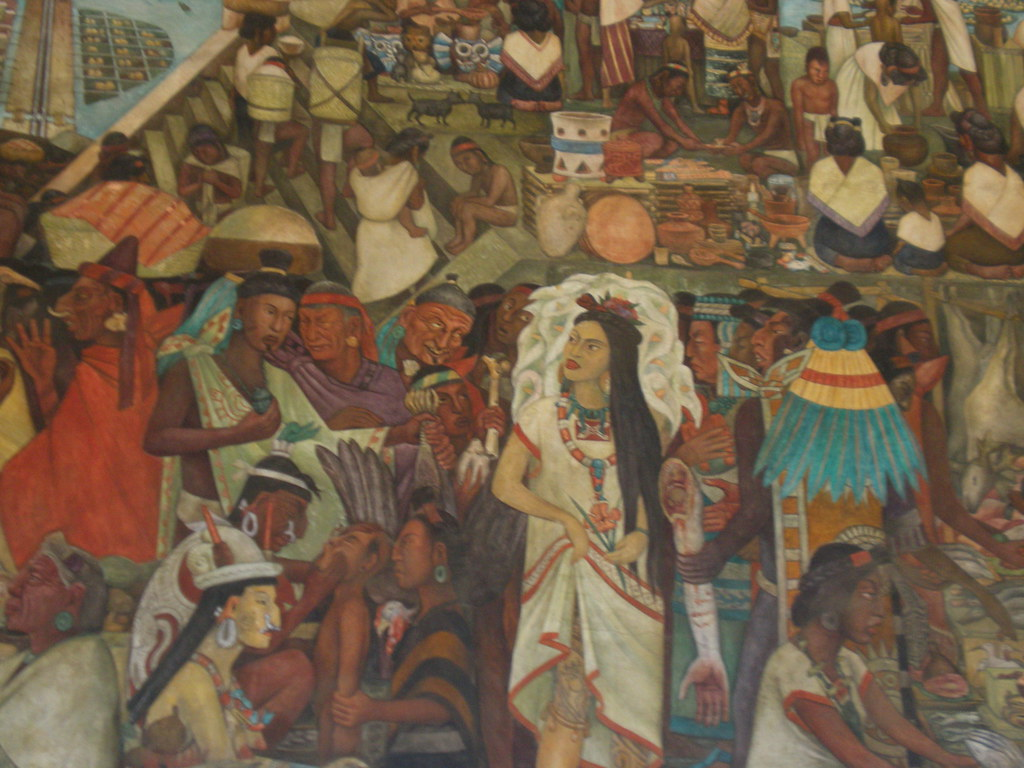 The great city of tenochtitl n 1945 the most notable for Diego rivera tenochtitlan mural