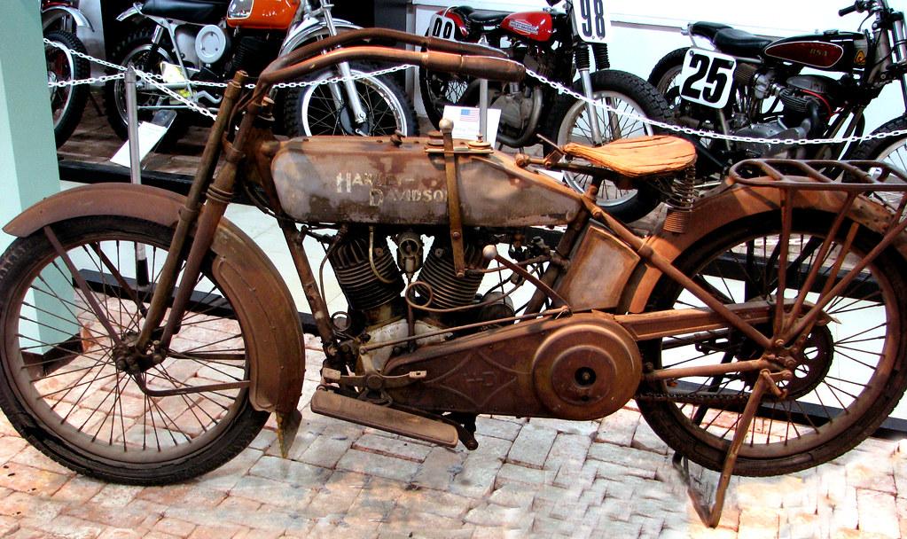 Classic Harley Davidson Picnic Painting