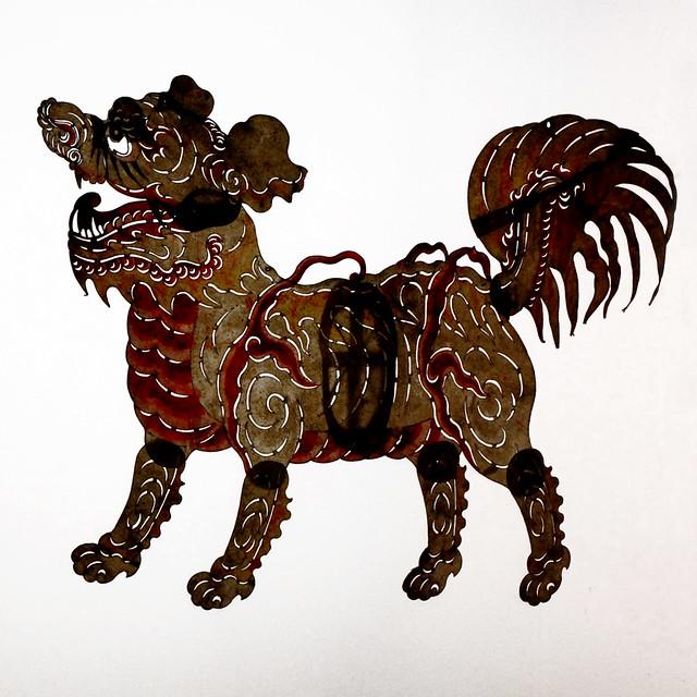 Figurines d'ombres chinoises au musée d'ethnographie de Berlin.
