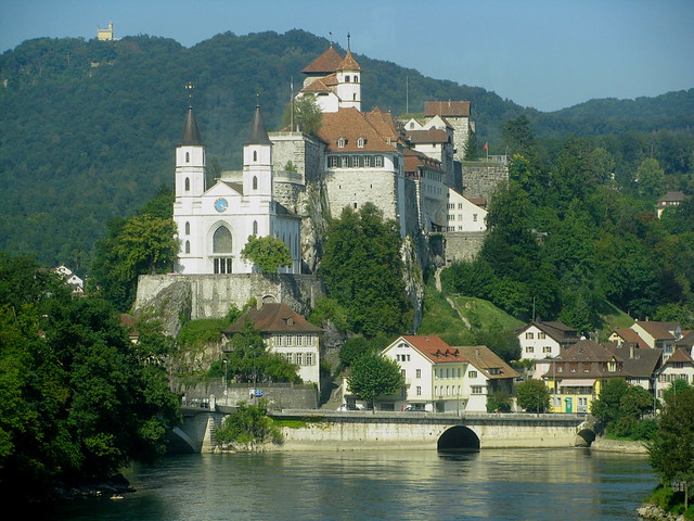 burg festung aarburg mit kirche aarburg an der aare im k flickr. Black Bedroom Furniture Sets. Home Design Ideas