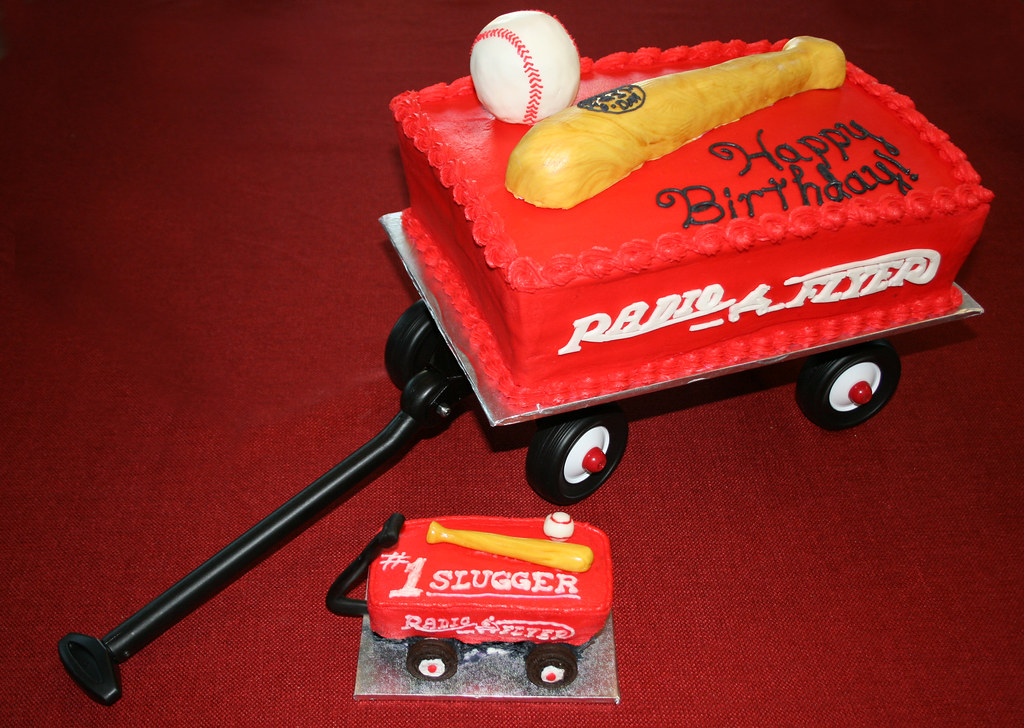 Radio Flyer Red Wagon Cake