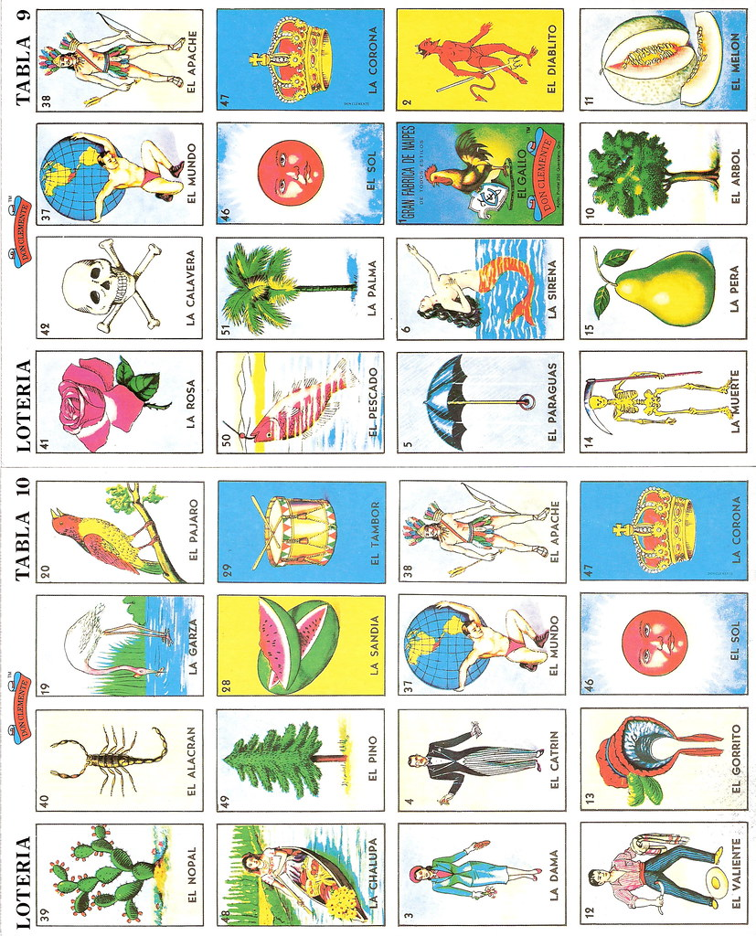 Old Fashioned image regarding printable loteria cards