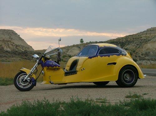 Custom VW Beetle Trike - 1987 Kawasaki Ninja Motorcycle | Flickr