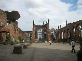 Ruins of Coventry's cathedral bombed during WWII | by Sgrk