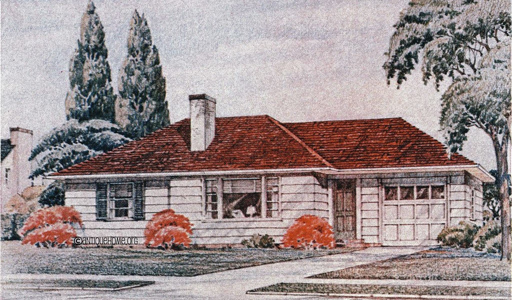The Brentwood 1950s Ranch Style Home Catalog House Flickr