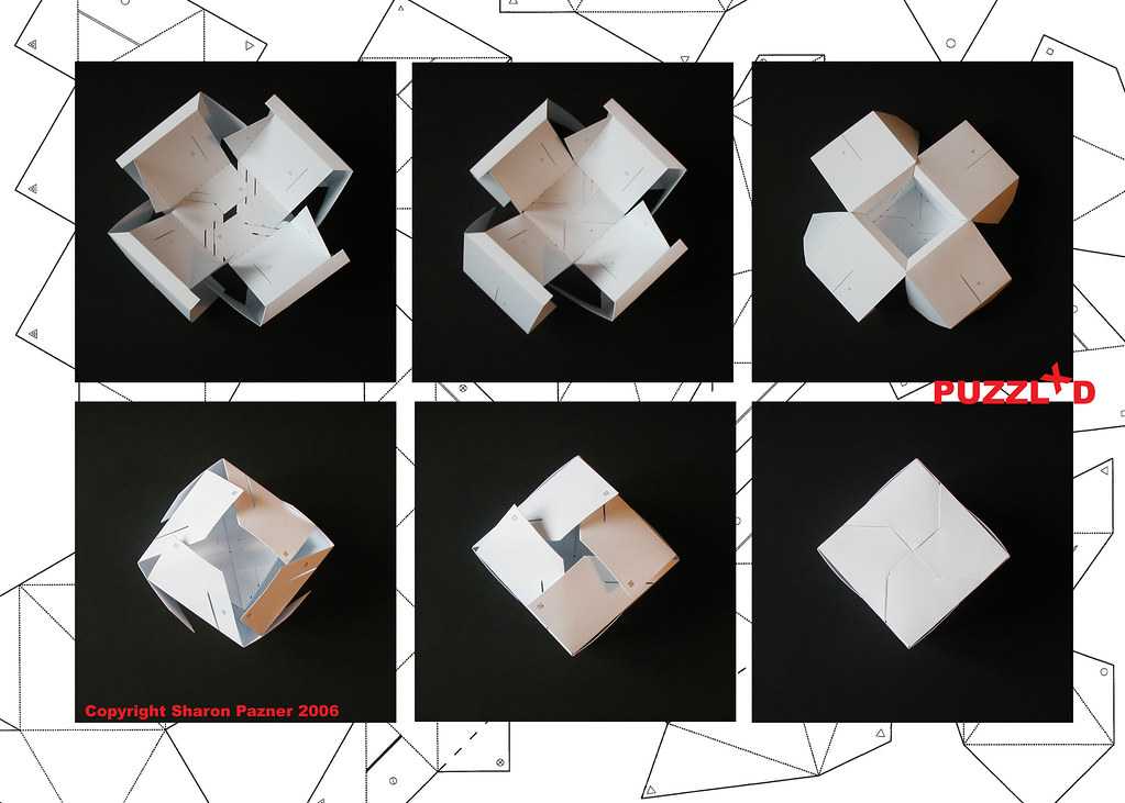 3d Cube Puzzle Cube Folding Instructions From A Series