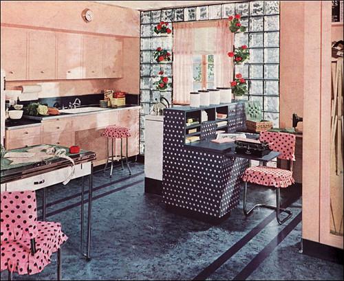 1940 Armstrong Polka Dot Kitchen Flickr Photo Sharing