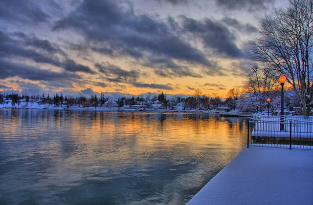Rolling Skies Sunset On Skaneateles Lake After The Snow An Flickr