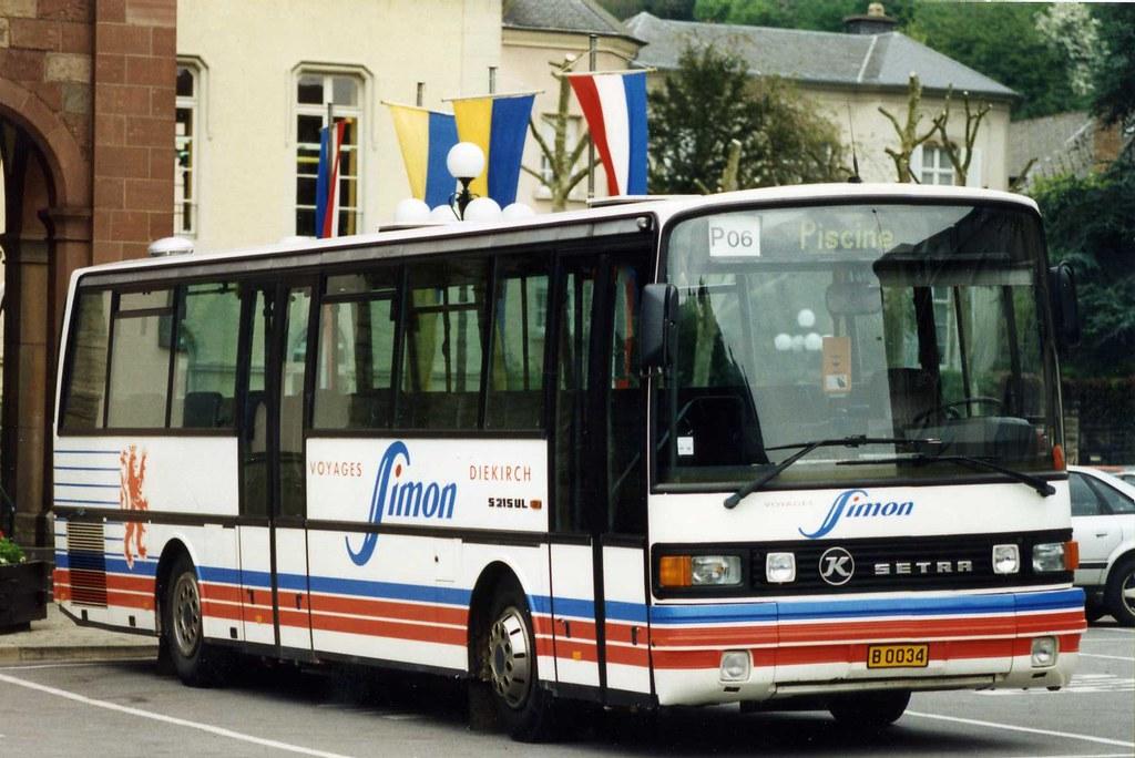 Buses In Luxembourg Setra S215 Ul B 0034 Of Simon Diekir