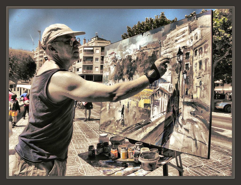 Sant feliu de guixols paisajes pintores pintando fotos pin - Pintores en girona ...
