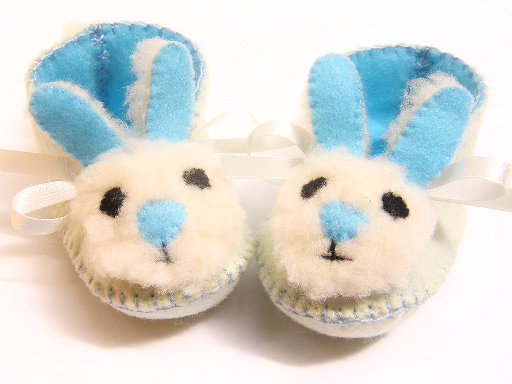 Cream and blue mr bunny babies shoes baby boy booties perf flickr cream and blue mr bunny babies shoes baby boy booties perfect for baby shower gift negle