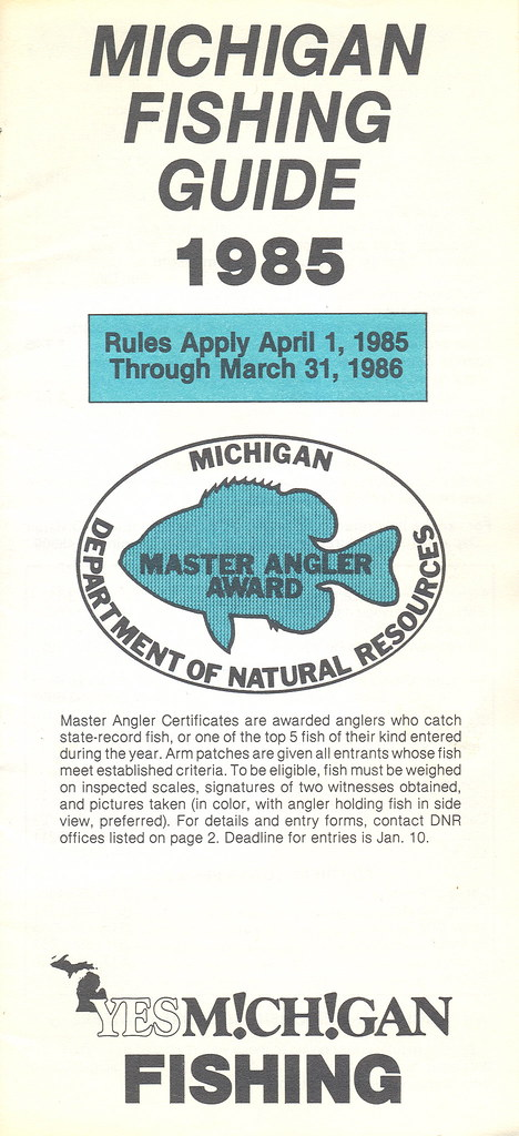 1985 michigan vintage fishing license law digest guide for How much is a fishing license in michigan
