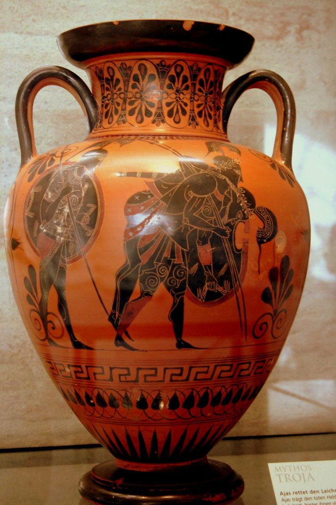 Mythos Troja Ancient Greek Amphora Greek Vase Shapes