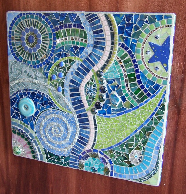 A beach wedding mosaic art panel a mosaic that was for Mosaic designs garden