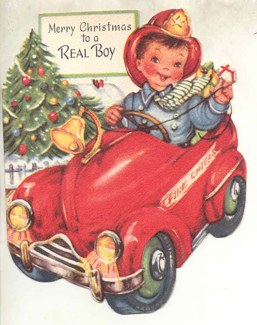 Christmas Toys Cards : Vintage christmas card it says quot gangway calls the