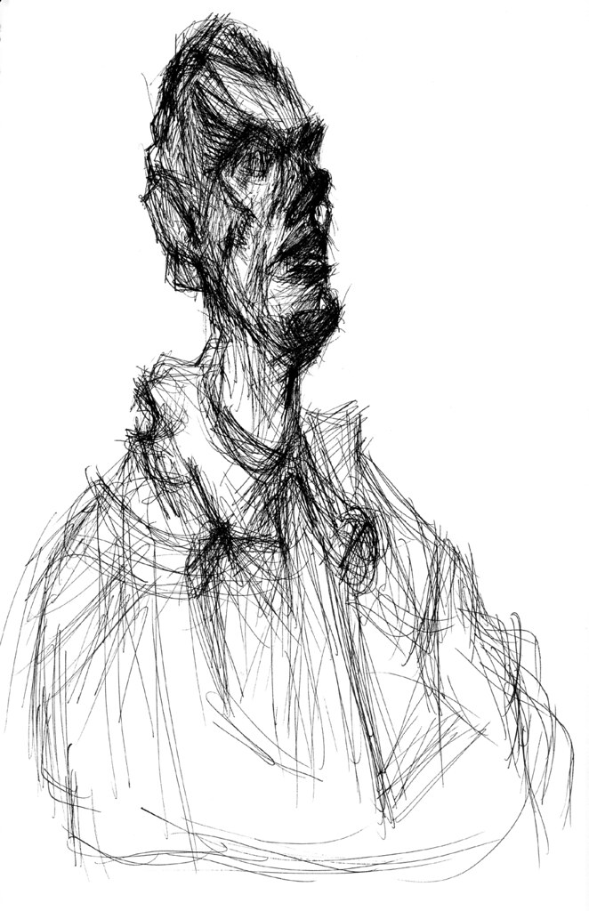 Line Drawing Artist Research : Giacometti quot bust of diego drawing made from
